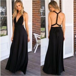 Dresses & Skirts - Black Goddess Maxi Dress
